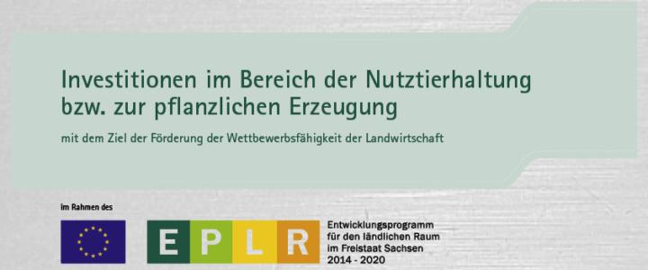 Investitionen im Bereich der Nutztierhaltung bzw. zur pflanzlichen Erzeugung
